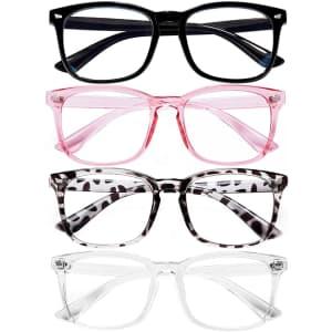 Feidu Blue Light Blocking Glasses 4-Pack for $5