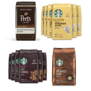 Bagged Coffee at Amazon: Buy 1, get 50% off 2nd