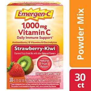 Emergen-C Vitamin C 1000mg Powder (30 Count, Strawberry Kiwi Flavor, 1 Month Supply), with for $10