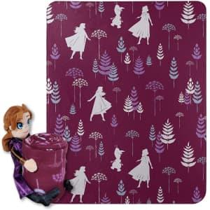 Disney Frozen 2 Dandelion Anna Fleece Throw Blanket Set for $13