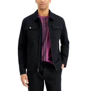 INC International Concepts Men's Machine Washable Twill Jacket for $25