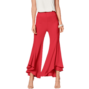 Venus Women's Ruffle Hem Pants for $14