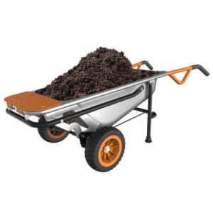 Worx AeroCart 8-in-1 Multi-Function Wheelbarrow / Yard Cart / Dolly for $136