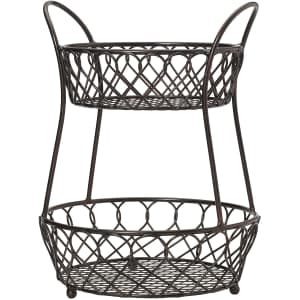 Gourmet Basics by Mikasa Loop and Lattice Wire Basket for $30