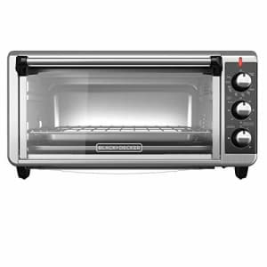 Black + Decker BLACK+DECKER TO3250XSB 8-Slice Extra Wide Convection Countertop Toaster Oven, Includes Bake Pan, for $92
