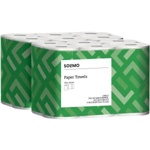 Solimo Basic Flex-Sheets Paper Towel 12-Pack for $15 via Sub & Save