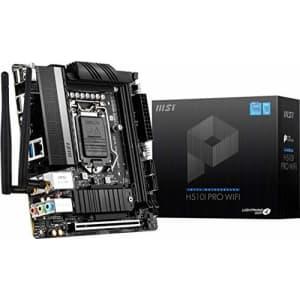 MSI H510I PRO WiFi ProSeries Motherboard (Mini-ITX, 11th/10th Gen Intel Core, LGA 1200 Socket, for $149