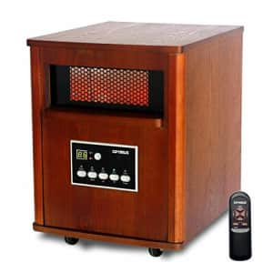 Optimus H-8121 Infrared Quartz Heater with Remote and LED Display for $130