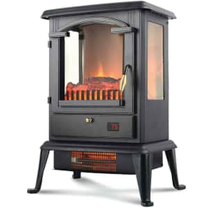 """Warm Living 1,500W 17"""" Freestanding Infrared Stove Heater for $50"""