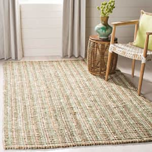 Safavieh Natural Fiber Collection NF447S Handmade Chunky Textured Premium Jute 0.75-inch Thick Area for $51