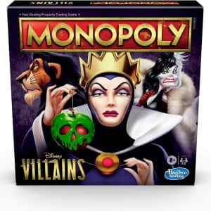 Monopoly Disney Villains Board Game for $20