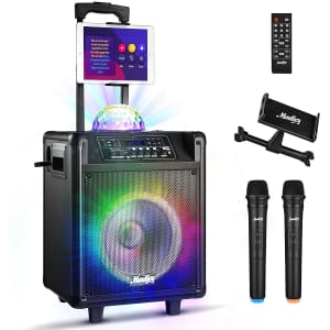 Moukey Portable Karaoke System for $160