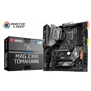 MSI MAG Z390 Tomahawk LGA1151 (Intel 8th and 9th Gen) M.2 USB 3.1 Gen 2 DDR4 HDMI DP CFX Dual for $291