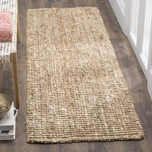 Safavieh Natural Fiber Collection NF447N Handmade Chunky Textured Premium Jute 0.75-inch Thick for $23