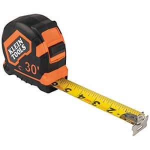 Klein Tools 9230 Tape Measure, 30-Foot Double-Hook Double-Sided Measuring Tape, Magnetic with for $41