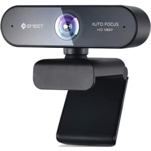 eMeet Nova 1080p Autofocus Webcam with Microphone for $16