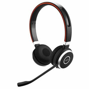 Jabra Evolve 65 MS Wireless Headset, Stereo Includes Link 370 USB Adapter Bluetooth Headset with for $153