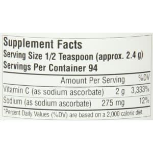 Source Naturals Vitamin C Sodium Ascorbate Crystals - Highest Quality, Pure Form Vitamin C for $15