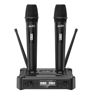 Moukey Dual-Channel Wireless Microphones System for $40