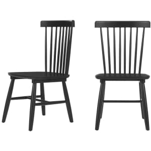 StyleWell Windsor Solid Wood Dining Chair 2-Pack for $119