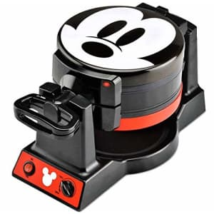 Disney Mickey Mouse Mickey Mouse Double Flip Waffle Maker, 1, Black, Red for $80
