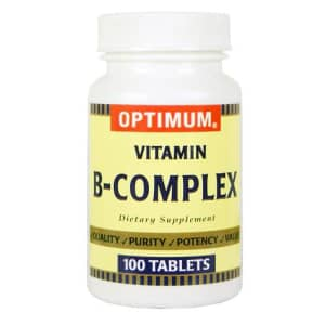 Optimum Vitamin B-Complex Tablets, 100 Count (Pack of 2) for $7