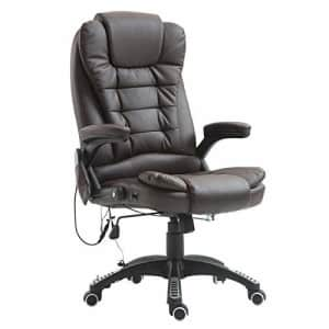 HOMCOM High Back Faux Leather Adjustable Heated Executive Massage Office Chair - Dark Brown for $170