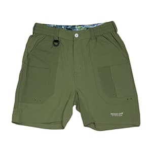 Mossy Oak Men's Standard XTR Fishing Quick Dry, Hiking Shorts, Olive, XX-Large for $40