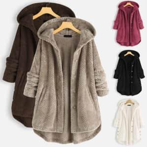 Women's Faux Fur Hooded Coat: 2 for $43