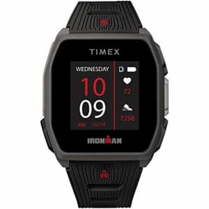 TIMEX IRONMAN R300 GPS Smartwatch with Heart Rate 41mm Dark Gray with Black Silicone Strap for $231