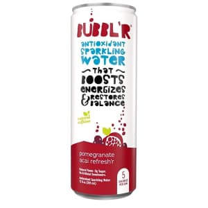 Bubbl'r Antioxidant Sparkling Water 12-oz. Can 12-Pack for $15