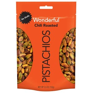 Wonderful Pistachios Chili Roasted 5.5-oz. Pouch for $5