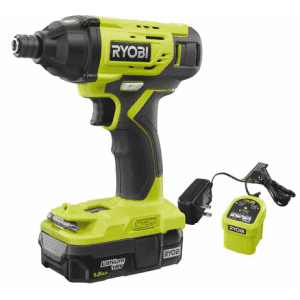"""Ryobi One+ 18V Cordless 0.25"""" Impact Driver Kit w/ Battery & Charger for $39"""