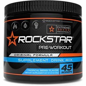 Rockstar Preworkout Drink Mix - Pre-Workout, Nitric Oxide Booster, Sugar Free, Endurance Vitality, for $15