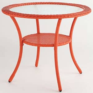 BrylaneHome Roma All-Weather Resin Wicker Bistro Table Patio Furniture, Coral for $222