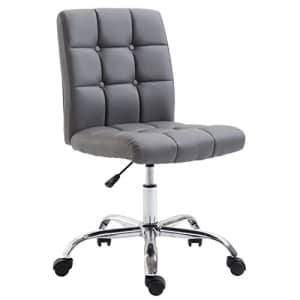 EdgeMod Aria Task Chair in Vegan Leather, Grey for $102