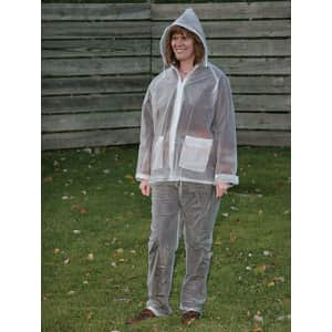 Boulder Creek Clear Vinyl Rain Suit for $4