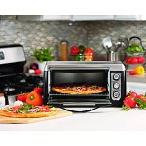 Hamilton Beach Countertop Toaster Oven, 6-Slices, Includes Bake Pan and Broil Rack, Black (31330D) for $98