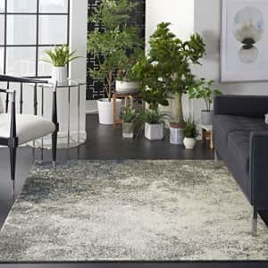 """Nourison Area Rug, Passion, Modern Abstract, Charcoal/Ivory, 1'10"""" x 2'10"""" (2x3), 1'10""""X2'10"""", for $67"""