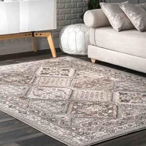 """nuLOOM Becca Vintage Tile Area Rug, 6' 7"""" x 9', Grey for $60"""