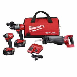 Milwaukee 2997-23 Fuel Combo Kit includes Drill Impact Reciprocating Sawzal for $699