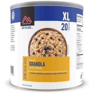 Mountain House Granola with Milk & Blueberries 20-Serving Can for $36
