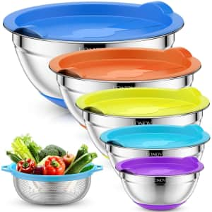 Lonoven Stainless Steel Mixing Bowl Set for $25