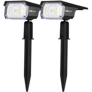 Lerekam Solar Spotlight 2-Pack for $16