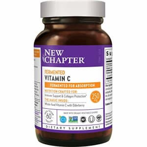 New Chapter Vitamin C + Elderberry With Fermented Vitamin C/Whole-Food Herbs + Collagen Protection, for $26