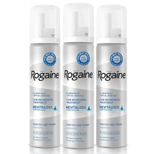 Rogaine Men's 5% Minoxidil 2.11-oz. Topical Foam 3-Pack for $43 via Sub & Save