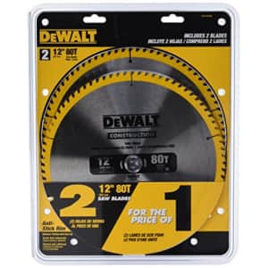 DeWalt 12-Inch Miter Saw Blade 2-Pack for $81