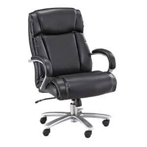 Safco Big and Tall High Back Rolling Swivel Task Desk Chair Padded Arms, 500 lbs. Weight Capacity, for $361