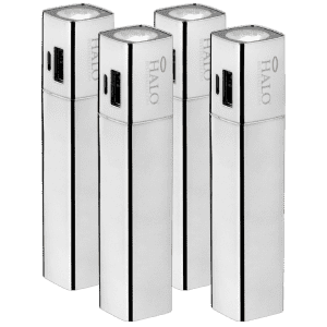 Halo Shine 3,000mAh 2-in-1 Flashlight Power Bank 4-Pack for $15