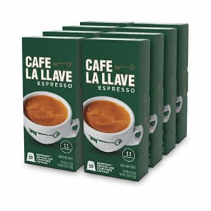 Don Francisco Caf La Llave Espresso Capsules, Intensity 11-Recylable Coffee Pods Compatible with Nespresso for $36